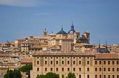 Vista della città di Toledo Fotografia Stock