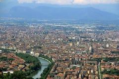 Vista della città di Torino da Superga, Torino, Italia Fotografia Stock Libera da Diritti
