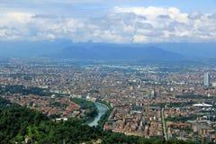 Vista della città di Torino da Superga, Torino, Italia Fotografie Stock Libere da Diritti