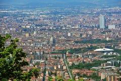 Vista della città di Torino da Superga, Torino, Italia Fotografia Stock