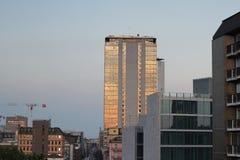 Vista della città di tramonto Fotografie Stock Libere da Diritti