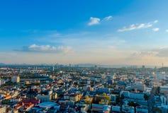 Vista della città di tramonto di Pattaya Fotografie Stock