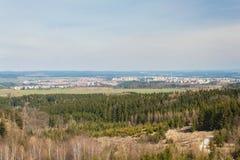 Vista della città di Trebic in repubblica Ceca Unesco, la vecchia città ebrea Fotografia Stock