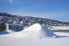 Vista della città di Tromso Fotografia Stock Libera da Diritti