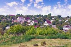 Vista della città di Uman in Ucraina Fotografie Stock Libere da Diritti