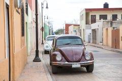 Vista della città di Valladolid, Messico Fotografie Stock