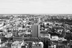 Vista della città di Varsavia fotografie stock libere da diritti
