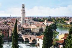 Vista della città di Verona da Castel San Pietro Immagini Stock Libere da Diritti