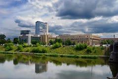 Vista della città di Vilnius Fotografia Stock Libera da Diritti