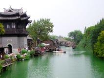 Vista della città di Wuzhen Immagini Stock Libere da Diritti