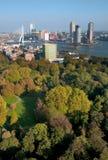 Vista della città e della sosta di Rotterdam da Euromast Fotografia Stock Libera da Diritti