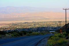 Vista della città e della strada Fotografie Stock