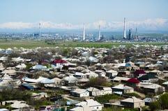 Vista della città industriale asiatica Fotografie Stock