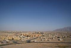 Vista della città iraniana del deserto di Yazd Fotografie Stock Libere da Diritti