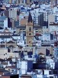 Vista della città Malaga fotografia stock