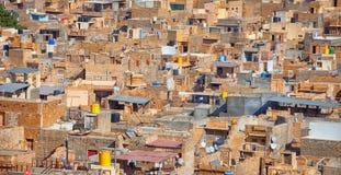 Vista della città, molte case della pietra Fotografia Stock