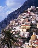 Vista della città, Positano, Italia. Fotografia Stock Libera da Diritti
