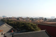 Vista della Città proibita fotografia stock libera da diritti