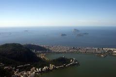 Vista della città, Rio de Janeiro, Brasile Immagine Stock Libera da Diritti