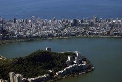 Vista della città, Rio de Janeiro, Brasile Immagine Stock