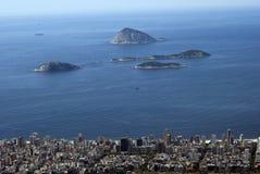 Vista della città, Rio de Janeiro, Brasile Fotografia Stock