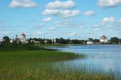 Vista della città russa antica Kargopol Immagine Stock