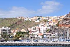 Vista della città San Sebastian, La Gomera, Canarie Fotografia Stock Libera da Diritti