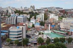 Vista della città a Seoul, Corea del Sud, settembre 2015 fotografia stock libera da diritti