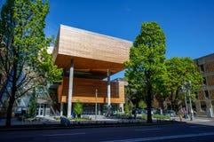 Vista della città universitaria dell'università di Stato di Portland durante la stagione primaverile Fotografie Stock Libere da Diritti