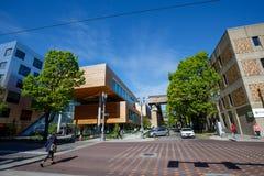 Vista della città universitaria dell'università di Stato di Portland durante la stagione primaverile Immagine Stock Libera da Diritti