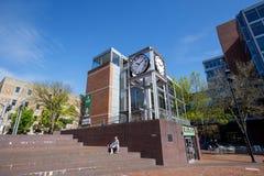 Vista della città universitaria dell'università di Stato di Portland durante la stagione primaverile Immagini Stock Libere da Diritti