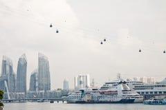 Vista della città del porto Immagini Stock Libere da Diritti