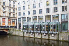 Vista della città di Amburgo, Germania Immagini Stock