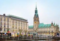 Vista della città di Amburgo, Germania Immagini Stock Libere da Diritti