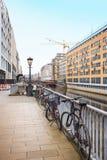 Vista della città di Amburgo, Germania Immagine Stock Libera da Diritti