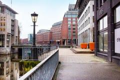 Vista della città di Amburgo, Germania Fotografia Stock Libera da Diritti