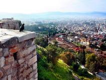 Vista della città di Atene Fotografie Stock