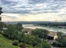 Vista della citt? di Belgrado, Serbia immagine stock
