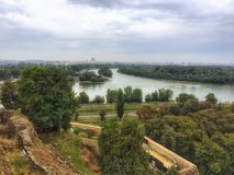 Vista della citt? di Belgrado, Serbia fotografia stock