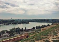 Vista della citt? di Belgrado, Serbia fotografie stock libere da diritti