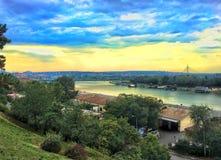 Vista della citt? di Belgrado, Serbia fotografie stock