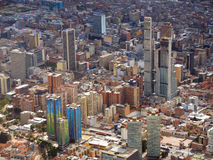 Vista della città di Bogota, Colombia Immagini Stock
