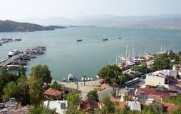 Vista della città di Fethiye Fotografia Stock Libera da Diritti