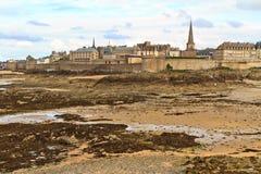 Vista della città di Malo del san, Francia Fotografie Stock
