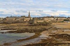 Vista della città di Malo del san, Francia Immagini Stock Libere da Diritti