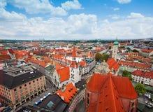 Vista della città di Monaco di Baviera, Baviera, Germania Fotografia Stock Libera da Diritti