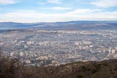 Vista della città di Tbilisi tbilisi Fotografie Stock Libere da Diritti