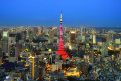 Vista della città di Tokyo Fotografie Stock Libere da Diritti