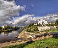 Vista della città di Vitebsk Fotografia Stock