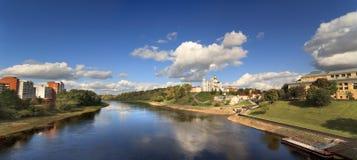 Vista della città di Vitebsk Fotografie Stock